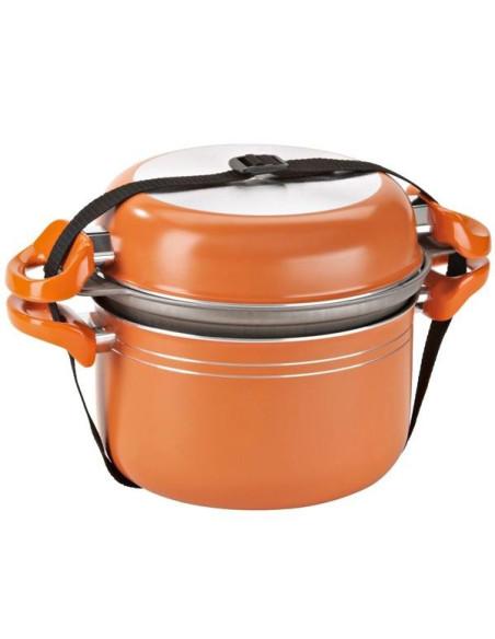 Puodų rinkinys 7+1 Aliuminium Orange