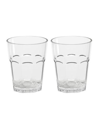 Neperleidžiami kokteilių stiklai, sudaryti iš 2