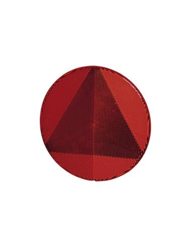 Trikampis apvalus atšvaitas raudonas