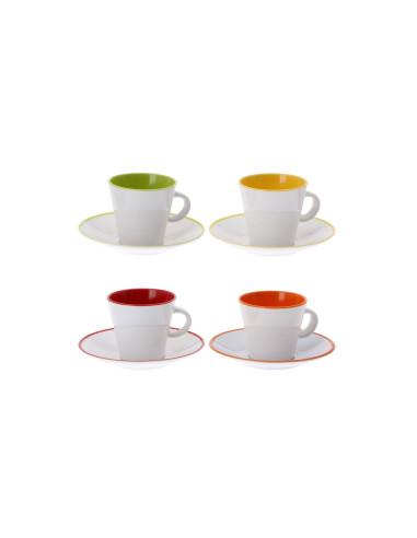 Espresso puodeliai Rainbow 8 vnt.